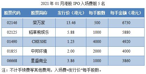 04-2021年01月港股IPO入场费前5名.png