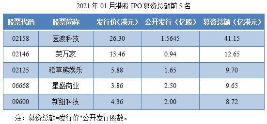 05-2021年01月港股IPO募资总额前5名.png